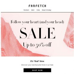 [Farfetch] Sale now on | Up to 50% off