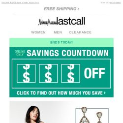 [Last Call] Time's running out to get $100 . . . savings countdown ENDS TODAY!