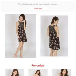 [MDS] Pre-orders Now Open! Featuring Bloom Shift Dress in Black