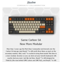 [Massdrop] Massdrop x T0mb3ry Carbon SA Custom Keycap Set: Available Next Wednesday