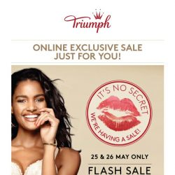 [Triumph] 📣Wow! Hottest Flash Sale Starts Now!