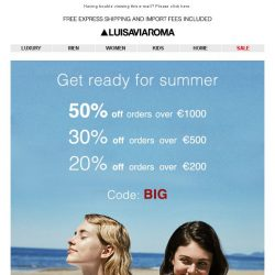 [LUISAVIAROMA] HOT savings: Up to 50% off!