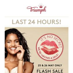 [Triumph] ⏰ Tick Tock, last 24 hours FLASH SALE!