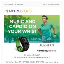 [AXTRO Sports] NEW IN: TomTom Runner 3 | GPS Running Watch | Now With Route Exploration