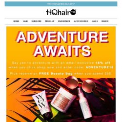 [HQhair] Adventure Awaits - 18% off + Free Beauty Bag
