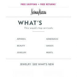 [Neiman Marcus] This just in! 136 new arrivals