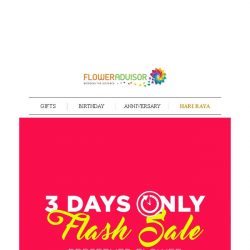 [Floweradvisor] Are You Ready For a BIG BIG Blooming Sale?