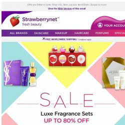[StrawberryNet] Luxe Fragrance Sets are on SALE Up to 80% Off!
