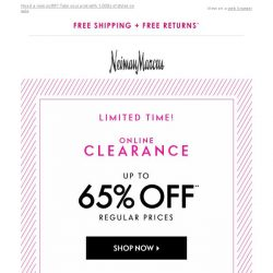 [Neiman Marcus] 1,000s of styles now 65% off