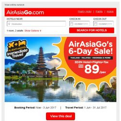 [AirAsiaGo] ▶ AirAsiaGo's 6-Day Sale! | Book Now! ◀