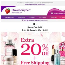 [StrawberryNet] , Spotted a Hot Beauty Find? Get Extra 20% Off it!