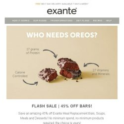 [Exante Diet] Bars Flash Sale - 45% Off [Be Quick]