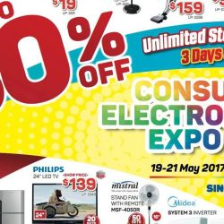 Singapore Expo: Consumer Electronics Expo 2017 with up to 80% OFF Home Electronics