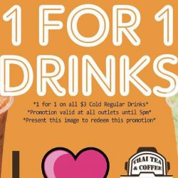 Tuk Tuk Cha: 1-for-1 Drink Promotion on 29 May 2017