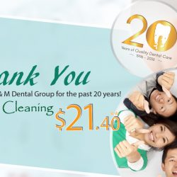 Q & M Dental Group: 20th Anniversary Promo - Consult & Cleaning at $21.40 Only!