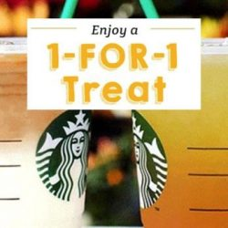 Starbucks: Enjoy 1-for-1 Treat on Your Favourite Venti-sized Beverage
