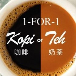 Wang Cafe: 1-for-1 Hot Kopi or Teh for FB Fans