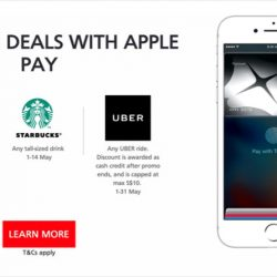 DBS/POSB Cards: Enjoy 90₵ Deals from Toast Box, Starbucks & Uber with Apple Pay in May!