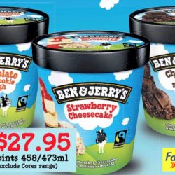 Cheers / FairPrice Xpress: Buy 3 Tubs of Ben & Jerry's Ice Cream for $27.95 (UP $13.90 each)