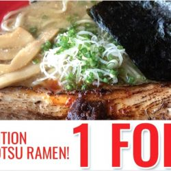 Menya Sakura Singapore: 1-for-1 Limited Edition New Tonkotsu Ramen