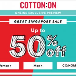 Cotton On: The Great Singapore Sale Up to 50% OFF