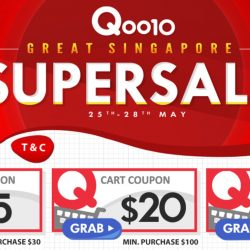 Qoo10: Great Singapore Super Sale with $5, $20 & $100 Cart Coupons Up for Grabs!