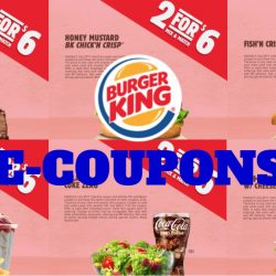 Burger King: NEW Mix & Match E-Coupons - Any 2 for $6!