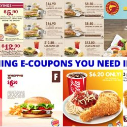 All the Dining E-Coupons in Singapore You Need to Save Now from Burger King, Jollibee, KFC, Popeyes & More! - May/June Version