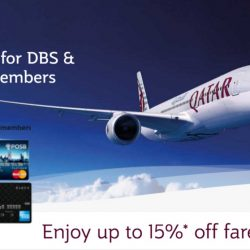 Qatar Airways: DBS/POSB Cardmembers Enjoy Up to 15% OFF Fares to Europe