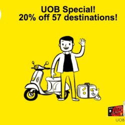 UOB Cards: 20% OFF 57 Scoot and Tigerair's destinations!