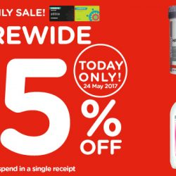 Watsons: Members' Only Sale with 25% OFF Storewide for 1 Day Only!
