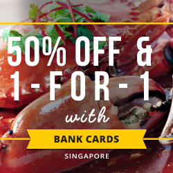 Chope: 50% OFF & 1-for-1 Dining Deals with AMEX, DBS, HSBC and UOB Cards!