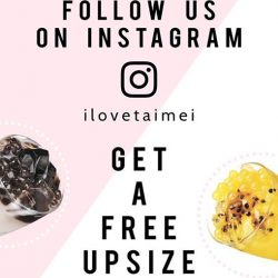 [I Love Taimei] Good news for all our instagram followers.