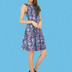 [MOONRIVER] Flowers bloom so does hope - Gina Classic Floral Fit and Flare DressPlease see other new arrivals at www.