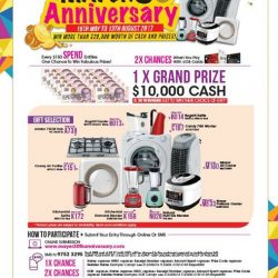 [MAYER] Let's Celebrate Mayer 30th Anniversary Promotion period from 15th May to 13th August 2017 Every $150 Spend Entitles One