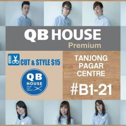 [QB House Singapore] QB HOUSE Premium outlet will be opening at Tanjong Pagar Centre B1-21 on 1 JUNE 2017!