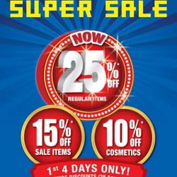 [BHG Singapore] It's the LAST DAY to enjoy our SUPER SALE storewide discounts!