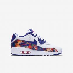 [SOLECASE] The Nike Air Max 90 Print Leather Big Kids' Shoe reimagines an icon with a bold design while delivering the