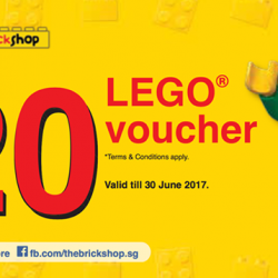 [The Brick Shop] Good news LEGO® fans, drop by LEGO® Certified Store @ Jurong Point 2 B1-86 for an exclusive promotion.