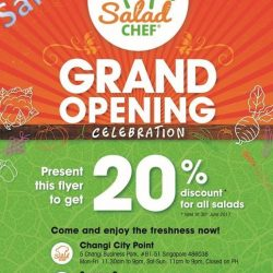 [Salad Chef] Dear friends, here at Salad Chef we are excited that our Changi City Point outlet will be opening soon !