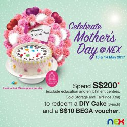 [NEX] Come celebrate Mother's Day at nex on 13 & 14 May!