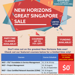 [New Horizon Centre] New Horizons Singapore is coming to the PCShow starting tomorrow till Sunday, 4 June at Marina Bay Sands.