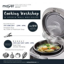 [MAYER] Mayer Pressure Cooker Demo Class @ Aperia Mall http://www.