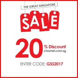 [Chomel] The Great Singapore SALE starts now!