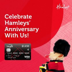 [UOB ATM] With a wide selection of only the best toys and educational gadgets, enjoy up to 70% off all Hamleys Singapore
