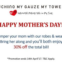 [Uchino] Don't forget our Mother's Day promotion ending this Sunday!