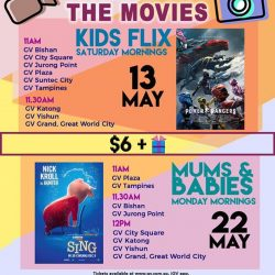 [Golden Village] Mark down these dates on your calendar cuz we've got some POPPIN' good flicks just for your little ones!