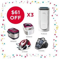 [Tefal] Celebrate our 61st anniversary with up to 3x $61 of discounts and more!
