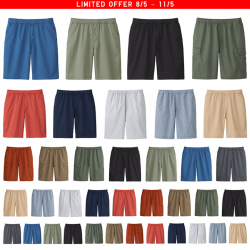 [Uniqlo Singapore] The Men's Easy Shorts come equipped with DRY technology to quickly wick away perspiration even in the sweatiest of
