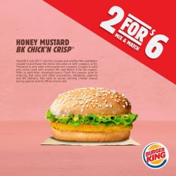 [Burger King Singapore] Flash and save with BK coupons!